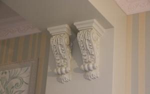 Стеновые панели и колонны. Загородный дом 3 Шлюз